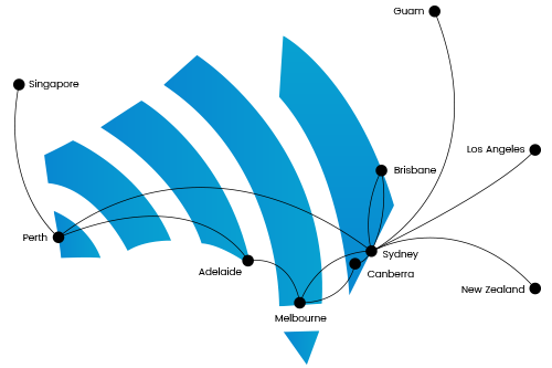 Dark Fibre Network Map